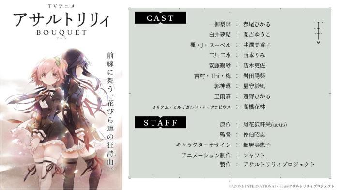 Assault Lily Anime Staff